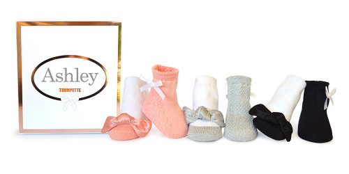 Ashley Baby Socks, 0 - 12 Months, 6 Pack