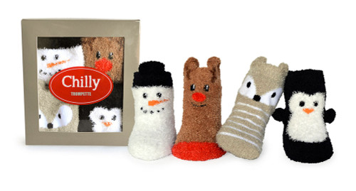 Chilly Socks, 0 - 12 Months, 4 Pack