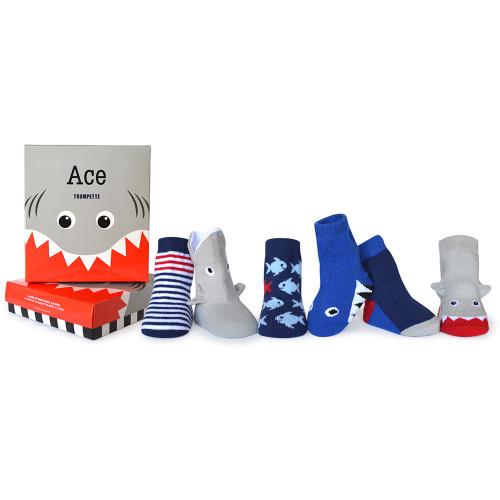 Trumpette Ace Socks, 0 - 12 Months, 6 Pack