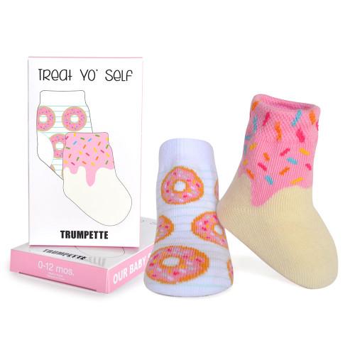 Trumpette Donut Socks, 0 - 12 Months, 1 Pair