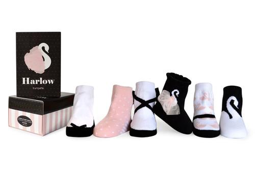 Trumpette Harlow Socks, 0 - 12 Months, 6 Pack