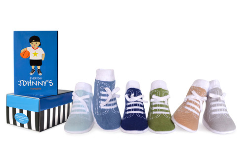 Trumpette Everyday Johnny's Socks, 0 - 12 Months, 6 Pack