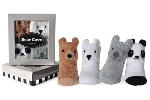 Trumpette Bear Cave Socks, 0 - 12 Months, 4 Pack
