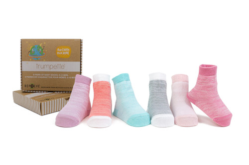 Casey Space Dye Pink, 6 Pack - Recycled