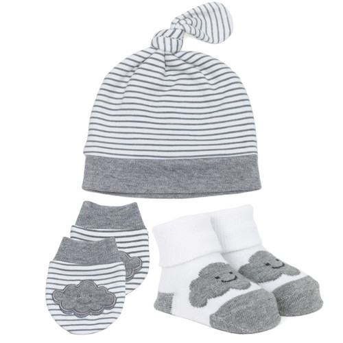Over the Clouds Gift Set Grey Organic Cotton