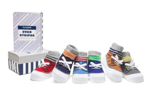 Evan Stripes 6 Pack Infant Socks