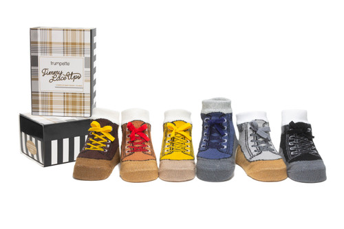 Timmy Lace Ups 6 Pack Infant Socks