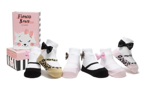 Frances Bows 6 Pack Infant Bootie Socks