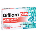 Difflam Plus Anaesthetic Sore Throat Lozenges Eucalyptus & Menthol - 16 Pack