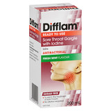 Difflam Ready to Use Sore Throat Gargle with Iodine 200mL