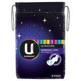 U by Kotex Overnight Ultrathins Long 8 Pack at Blooms The Chemist