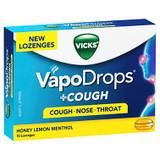 VICKS VapoDrops +Cough Honey Lemon Menthol 16 Lozenges at Blooms The Chemist