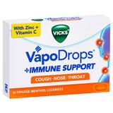Vicks VapoDrops Immune Support Orange - 16 Pack at Blooms The Chemist