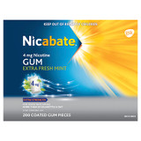 Nicabate Gum Extra Strength Extra Fresh Mint 4mg - 200 Pack