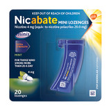 Nicabate Minis 4mg Mint Lozenges - 20 Pack