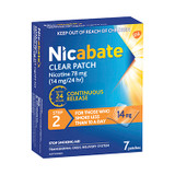 Nicabate Clear Patch 14mg Step 2 - 7 Pack