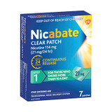 Nicabate Clear Patch 21mg Step 1 - 7 Pack