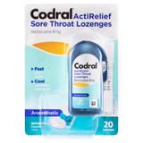 Codral ActiRelief Sore Throat Lozenges Anaesthetic Coolmint 20 Pack