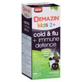 Demazin Kids 2+ Cold & Flu + Immune Defence Natural Berry Oral Liquid 200mL