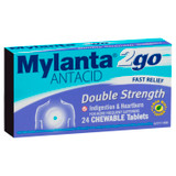 Mylanta Antacid 2Go Double Strength Chewable Tablets 24 Pack