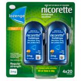Nicorette Fruitdrops Lozenge Regular Strength 4 x 20 Pack