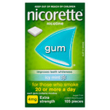 Nicorette Gum Icy Mint Extra Strength 105 Pack