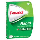 Panadol Rapid Paracetamol 500mg 10 Caplets at Blooms The Chemist