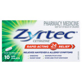 Zyrtec Rapid Acting Allergy & Hayfever Tablets 10 Pack