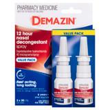 Demazin 12 Hour Nasal Decongestant Spray Value Pack 2 X 20mL