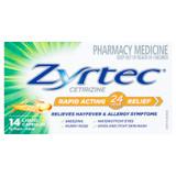 Zyrtec Rapid Acting Allergy & Hayfever Capsules 14 Pack