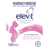 Elevit Pre-conception and Pregnancy Multivitamin Tablets 100 pack (100 days)