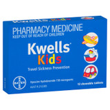 Kwells Kids Travel Sickness Chewable Tablets 12 Pack