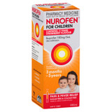 Nurofen For Children 3months - 5years Pain and Fever Relief 100mg/5mL Ibuprofen Strawberry 200mL