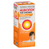 Nurofen For Children 5-12yrs Pain and Fever Relief Concentrated Liquid 200mg/5mL Ibuprofen Orange 100mL