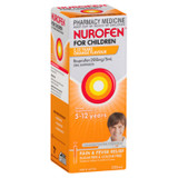 Nurofen For Children 5-12yrs Pain and Fever Relief Concentrated Liquid 200mg/5mL Ibuprofen Orange 200mL