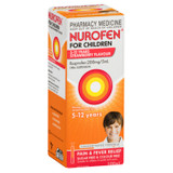 Nurofen For Children 5-12yrs Pain and Fever Relief Concentrated Liquid 200mg/5mL Ibuprofen Strawberry 100mL