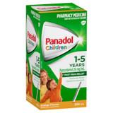 Panadol Children 1-5 Years Suspension, Fever & Pain Relief, Orange Flavour, 200 mL
