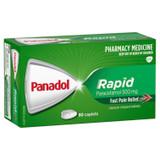 Panadol Rapid Paracetamol 500mg 80 Caplets