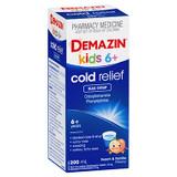 Demazin Kids 6+ Cold Relief Blue Syrup Peach & Vanilla Flavour 200mL