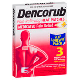 Dencorub Pain Relief Self Adhesive Heat Patches 3 Pack