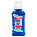 Colgate Peroxyl Oral Cleanser 236mL, Mint Oral Rinse Mouthwash with Hydrogen Peroxide