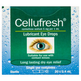 Cellufresh Eye Drops 0.4ml 30 Vials Blooms The Chemist