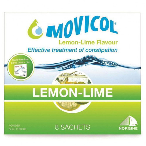 Movicol Powder 13g Lemon And Lime - 8 Sachets