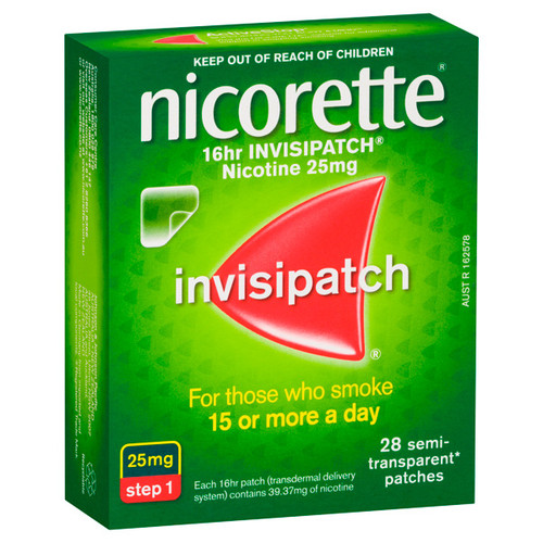 Nicorette Invisipatch 25mg online at Blooms The Chemist