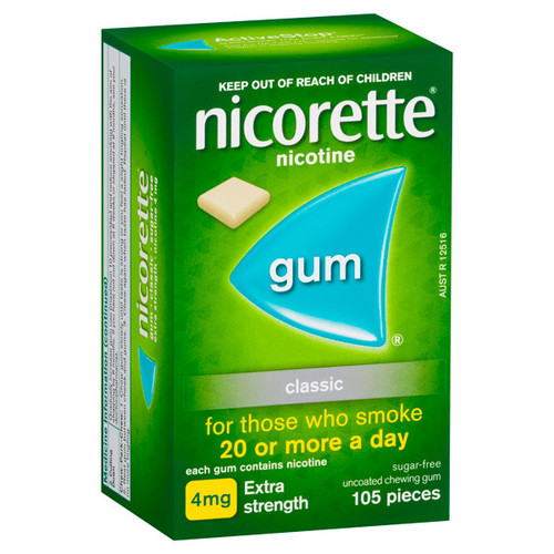 Nicorette Gum Extra Strength 105 Pack at Blooms The Chemist