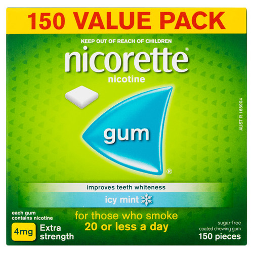 Nicorette Gum 4mg Icy Mint Pocket Pack - 150 Pieces 1