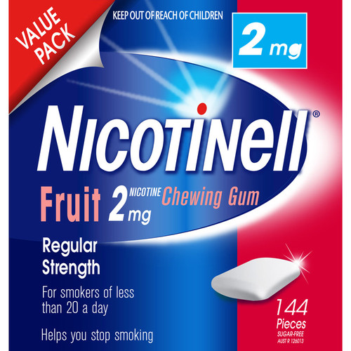 Nicotinell Gum Fruit 2mg - 144 Pack 1