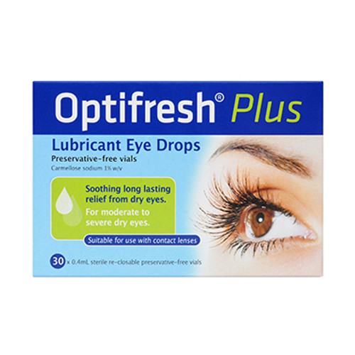 Optifresh Plus Unit Dose Eye Drops 1% 0.4ml - 30 Pack Blooms The Chemist