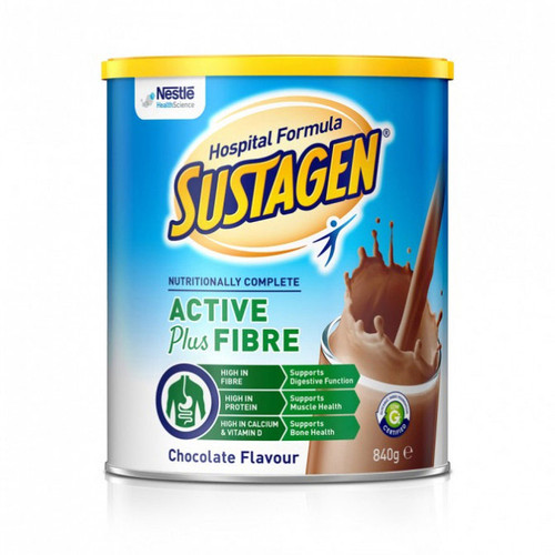 Sustagen Active Plus Fibre Chocolate 840g at Blooms The Chemist