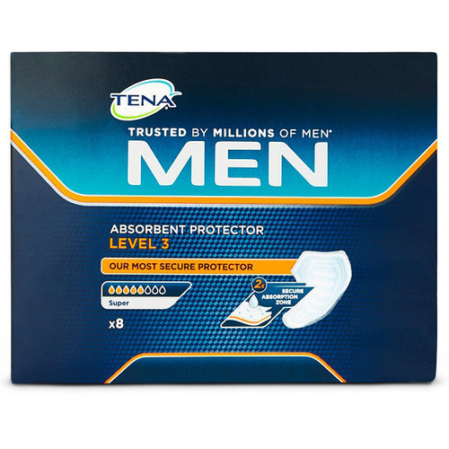 TENA Men Absorbent Protector Level 3 - 8 Pack